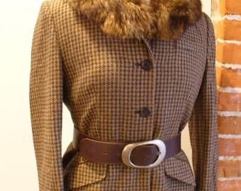 Vintage Racoon Fur Collar