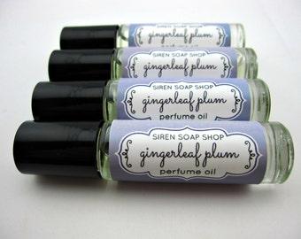 SALE Gingerleaf Plum Perfume Oil, Perfume, Ginger, Plum, clearance