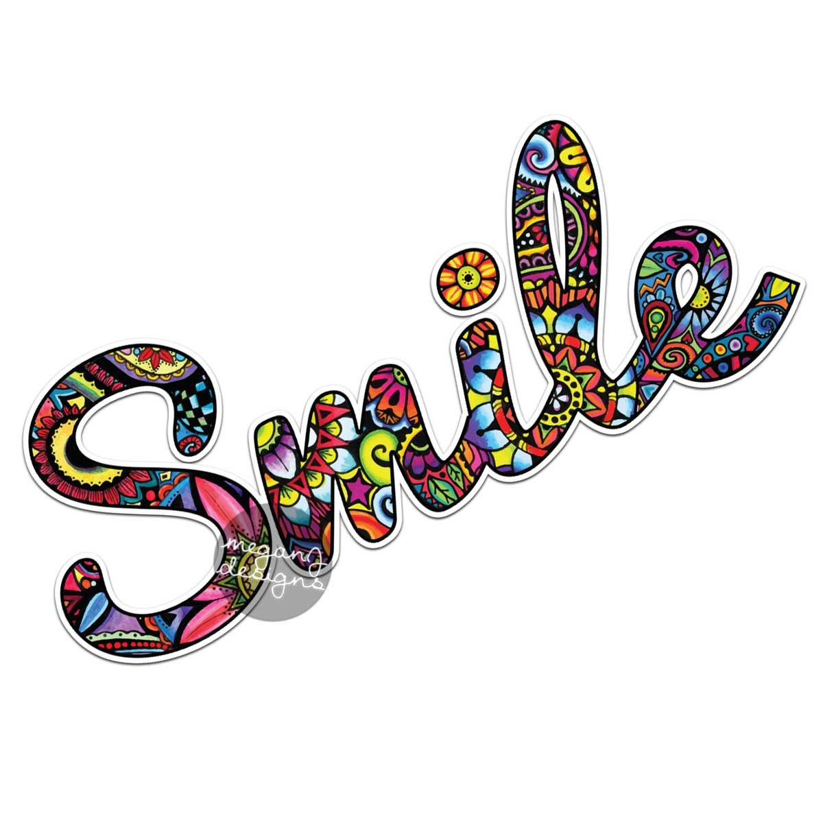 Wall Stickers How To Apply Smile Sticker Colorful Design Bumper Sticker Laptop Decal