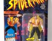 Kraven Action Figure, Spiderman 1994 The Hunter, Vintage, Mint in Package, Spidey, Marvel Comics