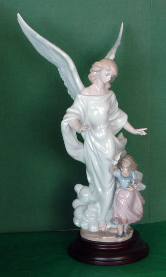 Retired Collector's Very Rare LLADRO GUARDIAN ANGEL Limited Edition #379 out of 4,000 #06352 Available to LLadro Society Members OriginalBox