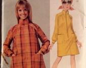 """Vintage 1960s Butterick Misses' One-Piece Coat Dress Pattern 4664 Michele Rosier Size 14 (34"""" Bust) UNCUT"""