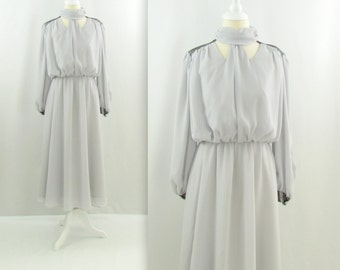 Old Hollywood Evening Dress - Vintage 1980s does 40s Chiffon Party Dress in Small by Lady Colony