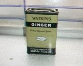 Vintage Kitchen Spice Tin Watkins Ginger Can