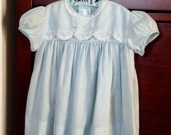 Vintage Baby Dress - Toddler Dress - Robin's Egg Blue Baby Dress - Child's Vintage Dress - Child's Vintage Clothes