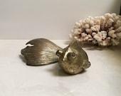Vintage Brass Fish // Large Mid Century Goldfish // Hollywood Regency Decor // Japanese Fighting Fish Beta // Koi