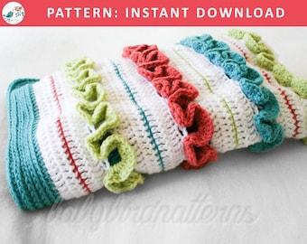Ruffle Me Up, Buttercup! Crochet heirloom ruffle baby blanket / afghan. A modern girly baby blanket - nice shower gift!