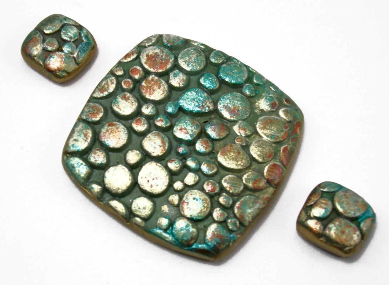 handmade polymer clay 3 bead