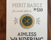Aimless Wandering Merit Badge