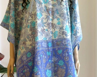 Silk Flower Kaftan, Caftan, Cover up, Summer Dress
