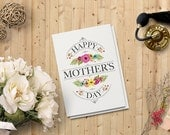 Mother's Day Card, Printable digital download card, instant download card,