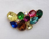 Vintage Jewellery, 1950's Jewellery, Rhinestone Brooch, 50's Brooch, Costume jewellery, UK Seller