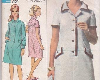 60s A-Line Dress Pattern Simplicity 7014 Size 12 Uncut