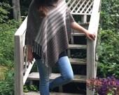Rustic Poncho for Rigid Heddle Loom PDF Weaving Pattern