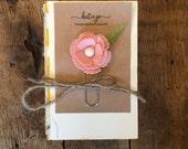 Large Pink Felt Flower Bookmark/Planner Clip/Planner Accessory