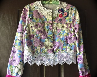 Summer Sugar Plum Jacket Betsey Johnson Style Boho Funk Beauty