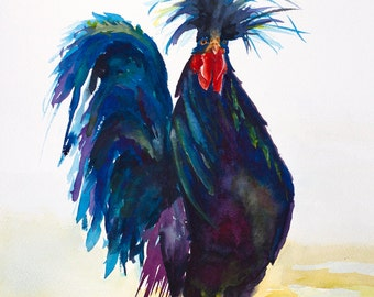 rooster art, rooster watercolor rooster print rooster painting chicken watercolor chicken painting chicken print on canvas kitchen art,