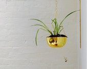 Brass Planter Bracket- Modern Plant Hanger- Decorative Wall Bracket- Brushed Brass Garden Decoration- Modern Home Gift- FREE SHIPPING