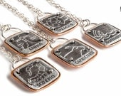 40% OFF SALE: Custom Zodiac Astrological sign necklaces - Unisex zodiac symbol necklace in Sterling Silver and copper - Unisex Mens necklace