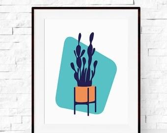 Cactus Print - Mid Century Modern Cactus Garden Art Print - Cactus Print - Home Decor - Cactus Art - Botanicals Art Print