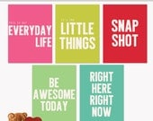 Printable Journaling Cards Quoted 2 - Everyday Life for Scrapbook and Project Life INSTANT DOWNLOAD