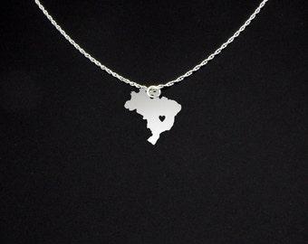 Brazil Necklace - Brazil Jewelry - Brazil Gift