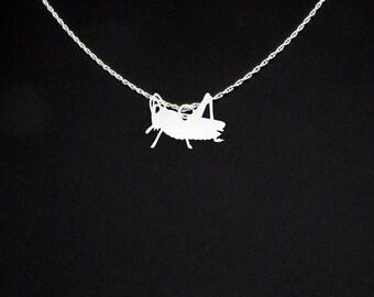 Grasshopper Necklace - Grasshopper Jewelry - Grasshopper Gift