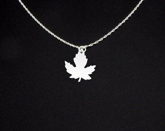 Maple Leaf Necklace - Maple Leaf Jewelry - Maple Leaf Gift