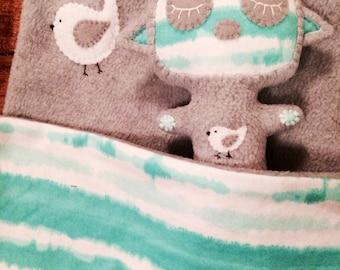 Lovey Blanket & Matching Creature Stuffy