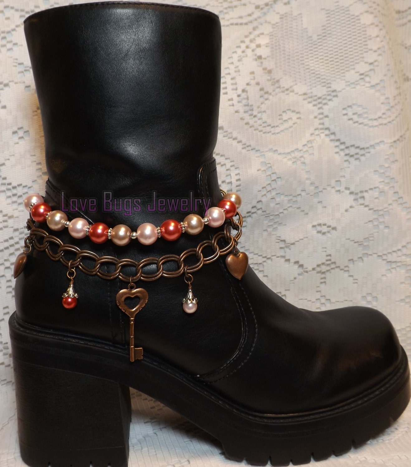 key boot jewelry boot bracelet boot bling boot jewelry