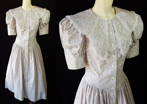 Vintage Wedding Dresses Florida: Gunne Sax Dress / Edwardian Style / Jessica McClintock / 1980s