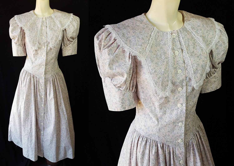 Gunne Sax Dress Edwardian Style Jessica McClintock 1980s