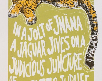 J is for Jnana Jaguar Print