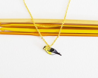 Goldfinch Necklace | Bird | Songbird | Wearable Art | Gifts Under 25