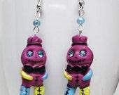 Voodoo Doll Earrings - gift for her, girlfriend, sister, teens, cute, halloween, geek, mom, easter