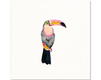 Tropical Toucan Art Print.