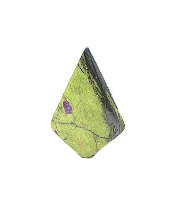 Pistachio Green Serpentine with rare Purple Stichtite metallic chromite Semiprecious Stone Cabochon Australian Gemstone DIY polished geo gem