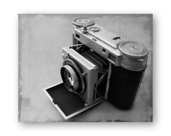 Vintage Camera Photo Art, Camera still life decor, Camera Collector Decor, Spartus Camera photo, Brownie Hawkeye Print