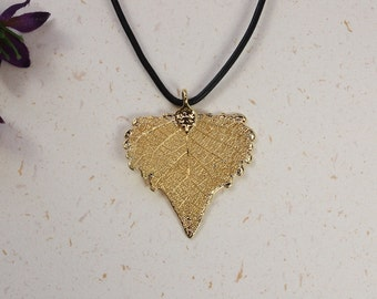 SALE Leaf Necklace, Gold Sugar Maple Leaf, Real Maple Leaf Necklace, Canadian Maple Leaf, Gold Leaf Pendant,SALE137