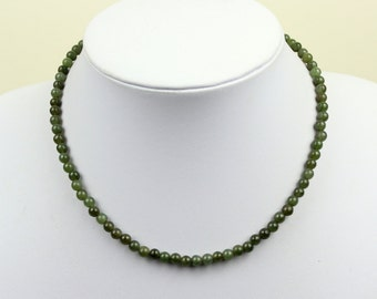 5mm Jade Necklace. 5 mm Jade Beads. Green Jade. Various Lengths. MapenziGems