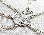 Pizza Necklace Silver Pizza Set Necklaces Bffs Besties Best Friend Gift Pizza Slice Frienship Necklace