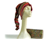 Snowboard Hat, Ski Hat, Upcycled Hat, Tribal Print Hat, Upcycled Clothing, Elf Hat, Pixie Hat, Boho Winter Hat, Hippie Hat, Snowboarding Hat