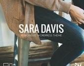 "Responsive Wordpress Theme - ""Sara Davis"" - Blog Template"