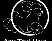 Poodle Agility Vinyl Car Decal