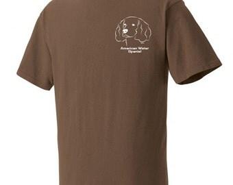 American Water Spaniel Garment Dyed Cotton T-shirt