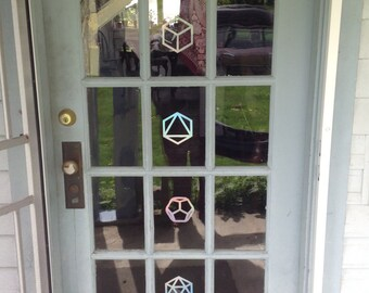 "4"" 5 Platonic solids decal pack"