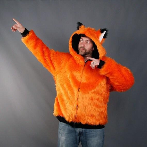 6cb4cc52275a2 Pawstar full fur fox yip hoodie furry jacket costume cosplay jpg 570x570  Cosplay fox hoodie