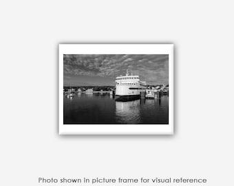 Martha's Vineyard Photography, Photographs, Prints, Wall Art, Blank Photo Greeting Cards, Island Home Ferry Boat, Vineyard Haven, Black Dog