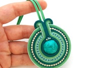 Soutache necklace - soutache pendant - Christmas gift for wife - Gift for girlfriend - Gift for mom - Best friend gift - Statement necklace
