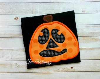 Pumpkin shirt or one piece bodysuit- Halloween shirt- jack o lantern shirt